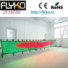 Wholesale China Led Curtain - Wholesale-free shipping 5M*0.6M P5 led video curtain for stage backdrops on China market