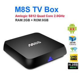 Wholesale Program Tv - M8S 4K Smart Android TV Box Amlogic S812 Quad Core 2GB 8GB Box Stream Video Sports Program Channels 5pcs