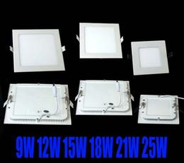 Wholesale Dhl Led Panel - dhl FREE SHIPPING High powerLed Panel Light SMD 2835 9W 12W 15W 18W 21W 25W 2200LM 110-240V Led Ceiling Bulb LED lamp spotlight downlight