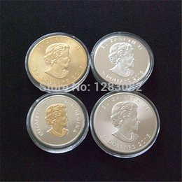 Wholesale Coin Cans - Free shipping Wholesale Mix 4pcs lot TROY OZ 9999 SILVER CANADIAN MAPLE LEAF COIN ROUND BULLION BAR ROYAL CAN. MINT