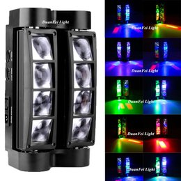 Wholesale Auto Watts - Wholesale- DunFly DuanFei Light 6pcs lot led mini spider moving head 8x3 watt