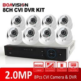 Wholesale Hd Dvr Ir - 2015 New HDCVI System 2.0MP HD IR Outdoor Dome CVI Camera 1080P Surveillance Security CCTV System 8 Channel CCTV DVR Kit