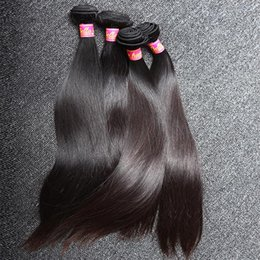 Wholesale silky straight weave chinese hair - Unprocessed 100% Chinese Hair Weft 3bundles Natural Color Silky Straight Human Hair Extensions Free Shipping