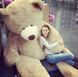 """Wholesale Huge Brown Bear - 200CM SUPER HUGE TEDDY BEAR (ONLY COVER) PLUSH TOY SHELL (WITH ZIPPER) 79"""""""