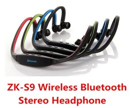 Wholesale Galaxy S3 Earphone - Stereo Sports Wireless Bluetooth Headset Headphone Earphone 4 colors For iPhone 4 4s 5 5C Samsung Galaxy S3 S4 N7100 HTC Universal