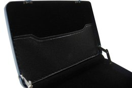 Wholesale Aluminium Credit Cards Holder - Wholesale-Wholesale Black Aluminium Credit Mini Briefcase Case Coin Case