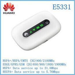 Wholesale Modem 4g Free - E5331 Unlocked 3G 4G 21 Mbps HSPA+ wifi Mini card Wireless Modem Mobile Hotspot Router New Free shipping