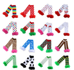 Wholesale Lace Stockings For Toddlers - PrettyBaby baby christmas leg warmers Arm Warmers For Toddler Girls boys Kid halloween lace ruffle leg warmers socks tights striped in stock