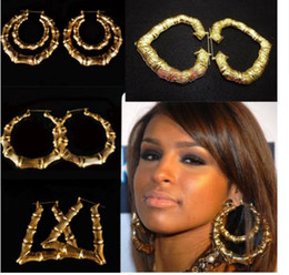 Wholesale Exaggerated Female - 2016 New exaggerated hip-hop earrings gold circle earrings female