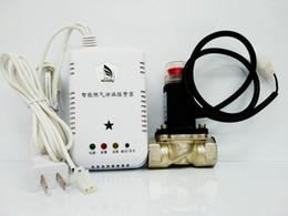 sistema de alarma de hogar pstn gsm Rebajas Detector de fuga de gas casero de UH de China con el solenoide de la válvula de cierre