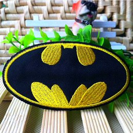 Wholesale Wholesale Batman Cloth - 3.6 inch HOT SALE!BATMAN Iron On Patches,The Dark Night,Made of Cloth Guaranteed 100% Quality Appliques Yellow Black GP-004