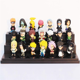 Wholesale naruto figures set - Cartoon Anime Naruto PVC Collectable Figure Model Toys Doll 5cm 21pcs set Gifts for kids Free shipping
