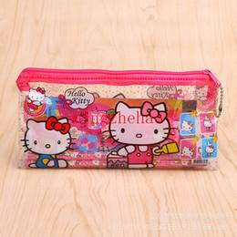 20 set Hello Kitty cartoon Set di matite Case Stationery hello kitty school pencil bags per ragazze regalo di Natale da