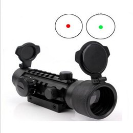 Wholesale Sight Scope W - 2x42 Red and Green Tri-Rail Dot Sight Illuminuted w  Rail for Rifle Scope Hunting