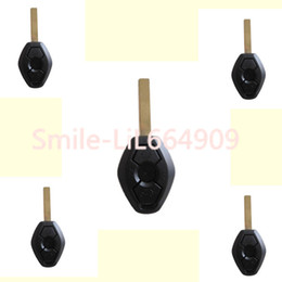 Wholesale Replacement Bmw Keys - 5X Replacement Keyless Car Key Case Shell Smart Remote FOB For BMW X3 X5 Z3 Z4 325i 525i 330i 3 Buttons Key Fob
