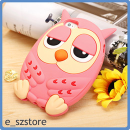 Wholesale 3d Owl Case - 3D Cute Owl Silicone Phone Case Back Cover For iPhone 6 6s plus 5 5s 4 4s Samsung Galaxy Note 3 N9000