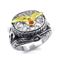 Wholesale Hawk Rings - Teboer Jewelry 3pcs 316 Stainless Steel Mens Ring Vintage Eagle Hawk MER118