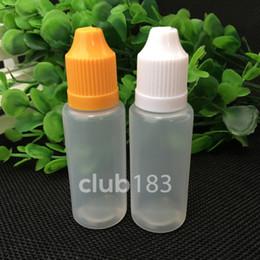 Botella vacía ce4 online-Botellas al por mayor vacías de E Cig Oil Bottle PE 20ML del dropper del plástico con el casquillo a prueba de niños para la botella líquida e eGo ce4