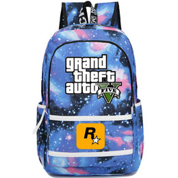 Wholesale Grand Games - Vice city backpack Grand theft auto school bag GTA daypack Game schoolbag Outdoor rucksack Sport day pack