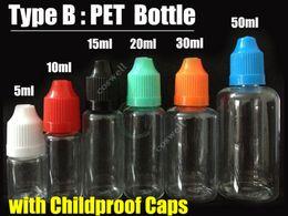Wholesale E Liquid Filled Bottles - e liquid Empty Needle Bottles PE PET childproof caps pinhole tip multi volume Plastic Needle Dropper Electronic Cigarettes atomizer oil fill