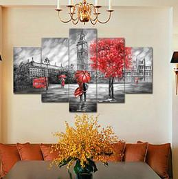 Abstrakte Liebhaber Leinwand Paintng Hot Cuadros Dekorative 5 Stücke Ungerahmt Modulare Foto HD Tableau Wandbilder Für Wohnzimmer von Fabrikanten
