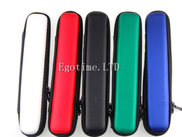 Wholesale Ego Cigarette Start Kit - HOT!! Newest Long Narrow Mini Zipper Case Ego Case E Cigarette E Cig Zipper Case Leather Bag For Ego Evod Ce4 Protank Ego Start Kit E Cigs