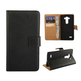 Wholesale Beat Phones - For LG Zero Spirit Leon Joy G4 Pro   Beat Real Genuine Leather Wallet Cases + Card Slots Holder Flip Stand Phone Case Cover