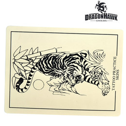 Wholesale Tattoo Designs For Beginners - Tattoo Practice Skin 8 x 6 Fake Skin for Beginner Dual Design Synthetic Skin WS031-1