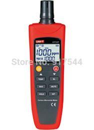 Wholesale Carbon Monoxide Gas Detector - Wholesale-Handheld Carbon Monoxide CO Gas Detector Tester Meter 0-1000PPM Sound Light Alarm with Temperature Display UT337A