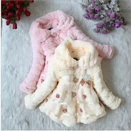 Wholesale Small Korean Jacket Coat - Wholesale-23456-year-old Korean version of the new children's winter fur coat small girls princess cotton padded cotton jacket S976