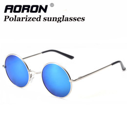 Wholesale Yellow Man Sunglasses Circle - Steampunk Sunglasses Vintage Man Circle Prince Round Fashion Casual Glasses for Driving Polarized Sunglasses for Men and Women S801