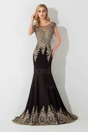 Wholesale Sheer Nude Dress Rhinestones - 2017 Evening Dresses Sheer Jewel Neck Illusion Back with Crystal Mermaid Rhinestones Prom Gowns Free Shipping Cheap Custom Gowns