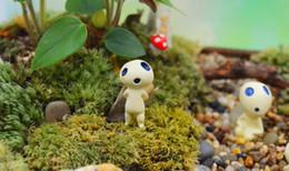Argentina 2016 Princesa Mononoke Kodama Árbol Espíritu figura de acción de juguete terrario E354J juguete del cabrito del envío Jardín Decoración Gratis Suministro