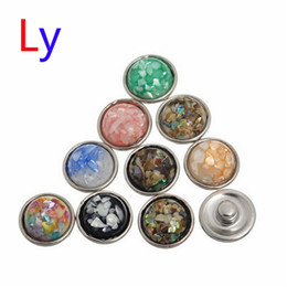 Wholesale Colorful Buttons For Sale - Welcome hot 12mm sale colorful shell snap button press studs fir for real snap button bracelet jewelry random color AC075