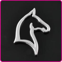 Wholesale Horses Coats - Bright Silver Coated Cute Horse Alloy Pendant Charms 20pcs AAC837