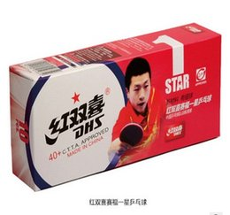 Wholesale X Tennis Balls - Wholesale- 10 X DHS 1 star 40mm+ New material Table Tennis Pingpong Balls Seamed balls 82006