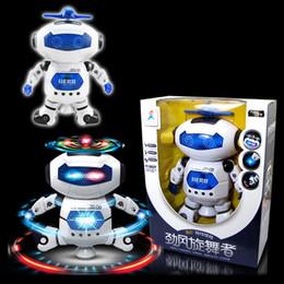 2019 qualidade de brinquedos de fazenda animal 48 set / lot Multi-função Stunt Kid robô Superhero Dance Elétrica Robô Com Luz Música Musical Toys baby Figuras de Ação de brinquedo de presente de natal