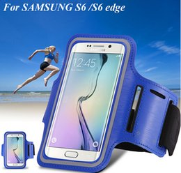 Wholesale Belt S4 Leather - Samsung Galaxy S6 Armband Case Holder Pounch Belt Brazalete Deportivo Sport Running Accessories For Samsung Galaxy S3 S4  S5 S6 S6 Edge