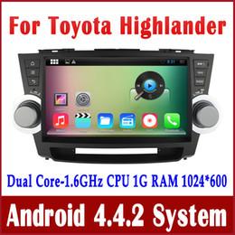"Wholesale Toyota Highlander Navigation Dvd - Android 4.4 Car DVD Player GPS Navigation for Toyota Highlander Kluger 2008-2013 with Radio BT USB SD Audio WIFI 10.1"" 1024*600"