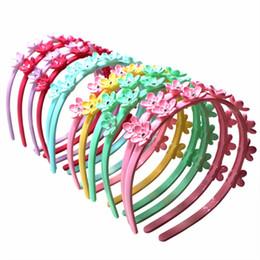 accessori dei capelli all'ingrosso giapponese Sconti Xima 12 pz / lotto colori misti plastica fascia rigida Skinny fascia ragazze Hairband plastica Hairband floreale Headwear