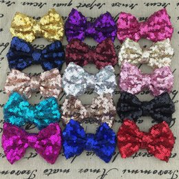 "Wholesale Sequin Bows For Hair - Wholesale 30pcs lot free shipping 3"" Sequin Hairbows WITHOUT Alligator CLIP for Baby Girl Hair Accessory,Sequin Hair Bows."