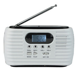 Wholesale Solar Dynamo Charger Flashlight - Dynamo Solar FM AM Emergency Radio With Cell Phone Charger & Flashlight & MP3 Player Y4179