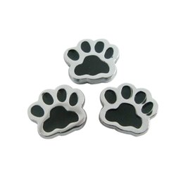 Wholesale Paw Music - 50pcs paw 8mm slide charms DIY charms Internal Dia.8mm fit 8mm band zinc alloy free shipping wholesales