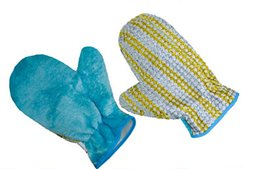 Wholesale Oil Environmental - Kitchen dishwashing gloves magic magic water to oil decontamination and environmental protection natural wood fiber cleaning gloves   single
