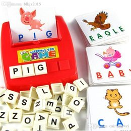Wholesale Drop Ship Educational Toys - Wholesale-New Children's Educational Toys Spelling English Game Platter Card Picture Flashcards Learn English Drop shipping Toy-015272