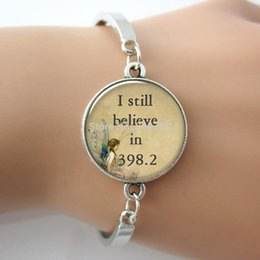 Wholesale 1 pc letter I still believe in fairy tale pendant book pendant jewelry fairytale glass charm bracelet bangle