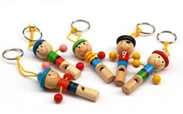 Wholesale Wooden Whistles Wholesale - 2016 new Pirate Captain Series Lovely Puppet Whistles Cute Kids Toys Wooden Educational Toys free shipping