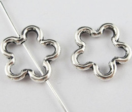 Wholesale making out hot - Free 200Pcs Tibetan Silver hollow out Flower Spacer Beads For Jewelry Making 16.5x2.5mm HOT