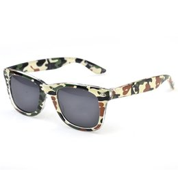 Wholesale Colorful Plastic Sunglasses - New Colorful Kids Military Sport Sunglasses Plastic Camouflage Frame UV400 Lenses Mixed 7 Colors 10 Pcs Lot Free Shipping
