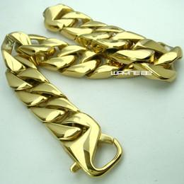 Wholesale Stainless Steel Bracelet 15mm - Top quality 316L stainless steel Men cool bracelet 15mm band width b162